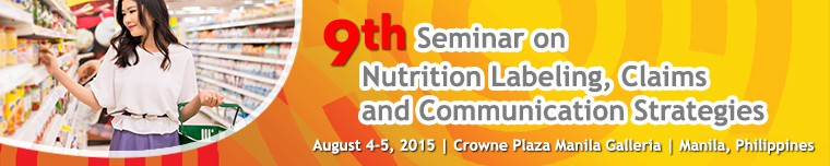 Ninth Seminar on Nutrition Labelling Banner